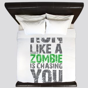 Run Like A Zombie Is Chasing You King Duvet