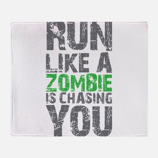 Rul Like A Zombie Is Chasing You Throw Blanket