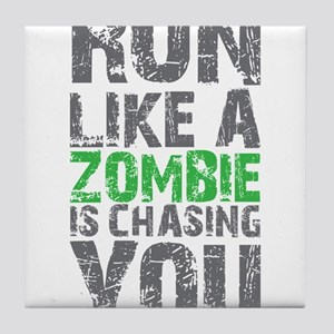 Rul Like A Zombie Is Chasing You Tile Coaster