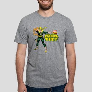 Retro Iron Fist Logo Mens Tri-blend T-Shirt