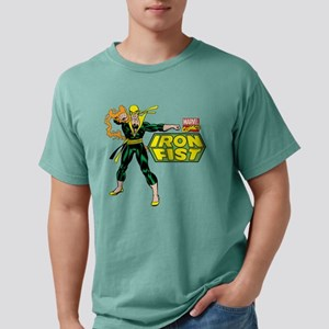 Retro Iron Fist Logo Mens Comfort Colors Shirt