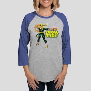 Retro Iron Fist Logo Womens Baseball Tee