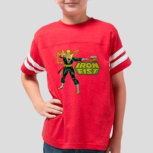 Retro Iron Fist Logo Youth Football Shirt