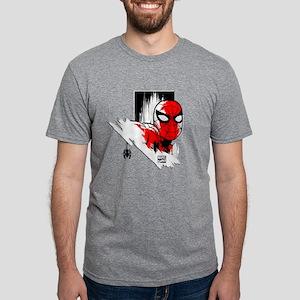 Spiderman Pose Mens Tri-blend T-Shirt