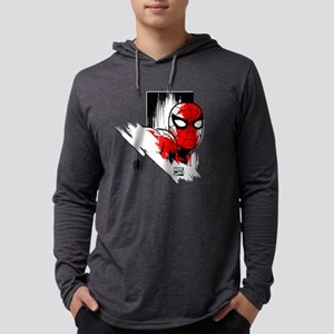 Spiderman Pose Mens Hooded Shirt