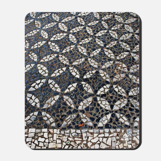 Portuguese sidewalk pavement Mousepad