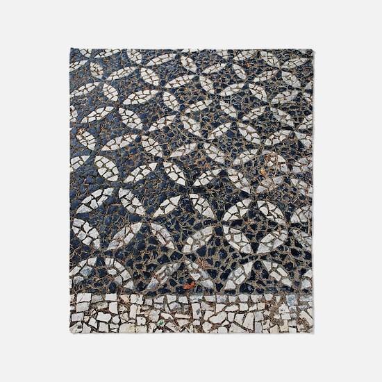 Portuguese sidewalk pavement Throw Blanket