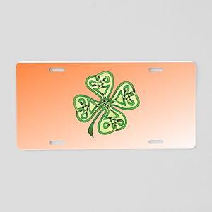 Four-Leaf Clover Aluminum License Plate
