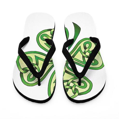 Four-Leaf Clover Flip Flops