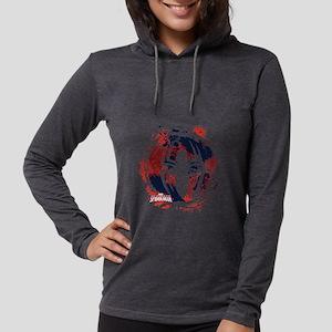 Spiderman Paint Womens Hooded Shirt