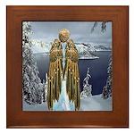 Angel : Winterland : Framed Tile