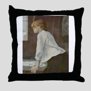 Toulouse-Lautrec The Laundress Throw Pillow