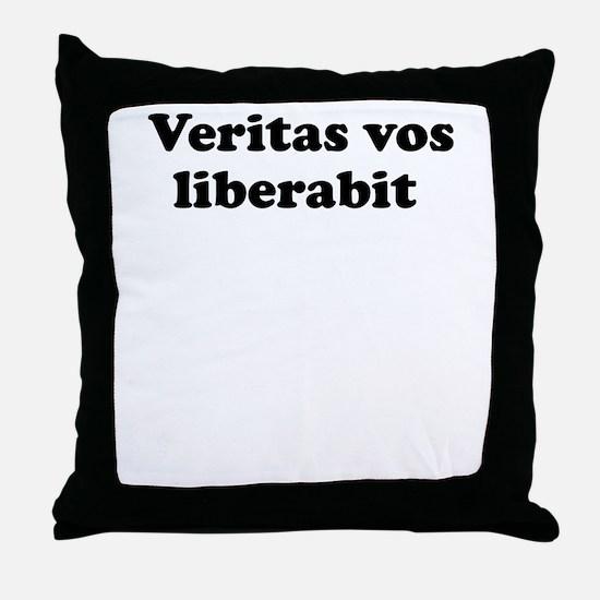Veritas vos liberabit Throw Pillow