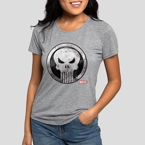 Punisher Grunge Icon Womens Tri-blend T-Shirt