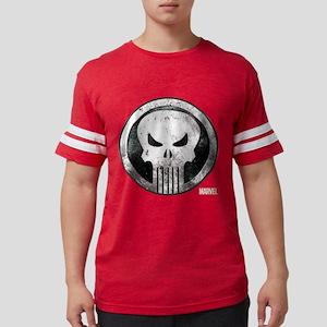 Punisher Grunge Icon Mens Football Shirt