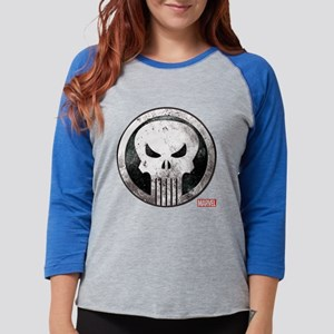 Punisher Grunge Icon Womens Baseball Tee