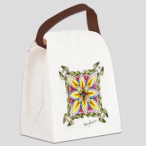Ryan James Celtic Flower Design Canvas Lunch Bag