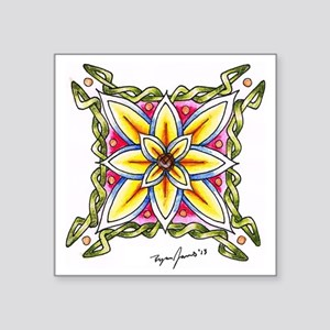 """Ryan James Celtic Flower De Square Sticker 3"""" x 3"""""""
