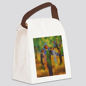 Macke - Woman in Green Jacket Canvas Lunch Bag