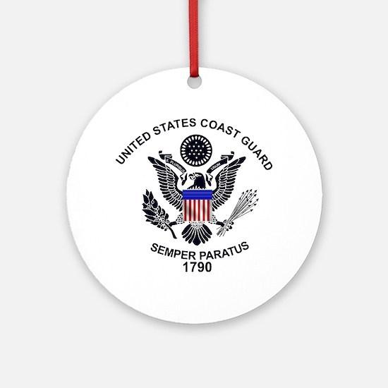 USCG Flag Emblem Ornament (Round)