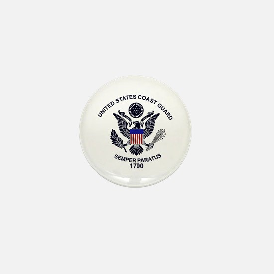 USCG Flag Emblem Mini Button