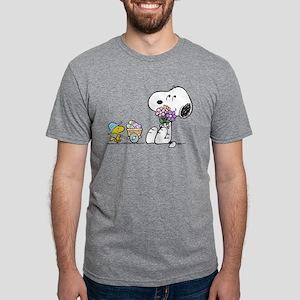 Snoopy Mens Tri-blend T-Shirt