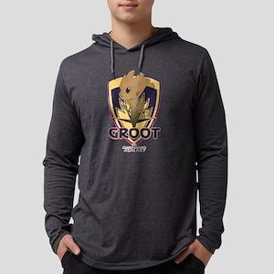 GOTG Baby Groot Emblem Mens Hooded Shirt