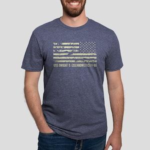 USS Dwight D. Eisenhower Mens Tri-blend T-Shirt
