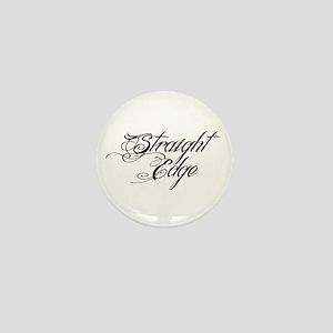 Straight Edge DARK Mini Button