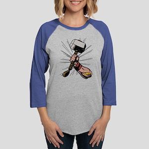 Marvel Comics Thor Hammer Womens Baseball Tee