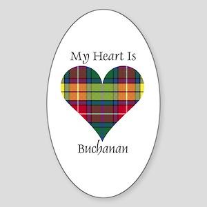 Heart - Buchanan Sticker (Oval)