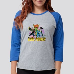 girl power Womens Baseball Tee