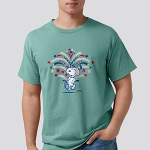 Snoopy Fireworks Mens Comfort Colors Shirt