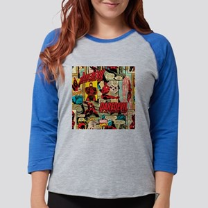 Daredevil Collage  Womens Baseball Tee