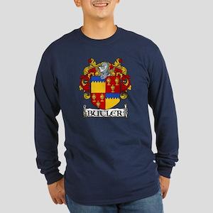 Butler Coat of Arms Long Sleeve Dark T-Shirt