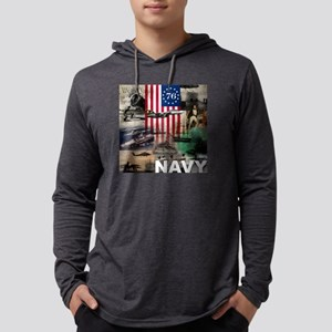 NAVY 1776 Mens Hooded Shirt