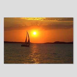 A Sailing Boat at Sunset  Postcards (Package of 8)