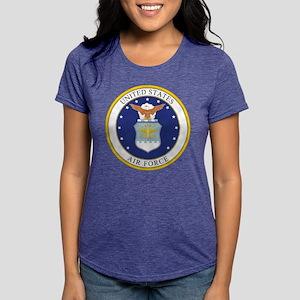 Air Force USAF Emblem Womens Tri-blend T-Shirt