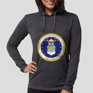 Air Force USAF Emblem Womens Hooded Shirt