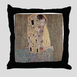 Klimt - The Kiss Throw Pillow