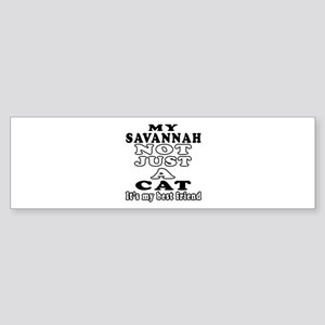 Savannah Cat Designs Sticker (Bumper)