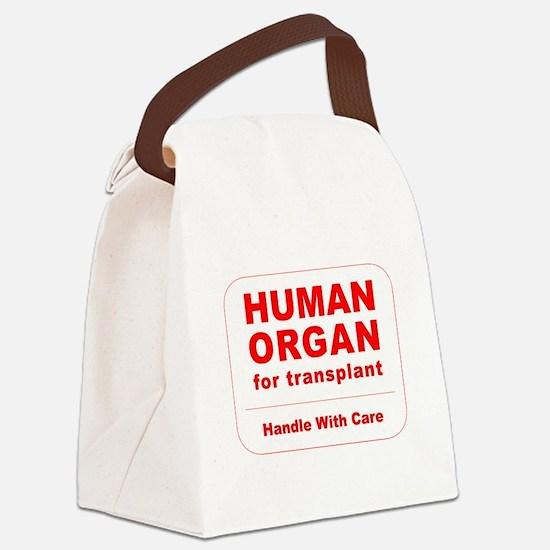 Human Organ for Transplant Canvas Lunch Bag
