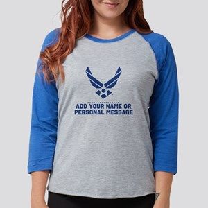 PERSONALIZED U.S. Air Force Lo Womens Baseball Tee