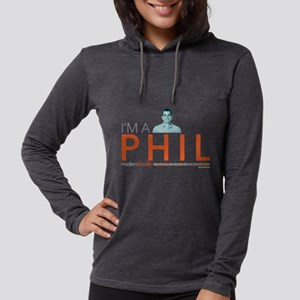 Modern Family I'm a Phil Dark Womens Hooded Shirt