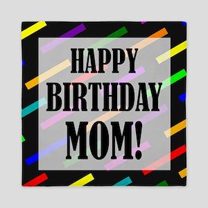 Happy Birthday For Mom Queen Duvet