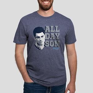 New Girl All Day Son Dark Mens Tri-blend T-Shirt