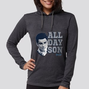 New Girl All Day Son Dark Womens Hooded Shirt