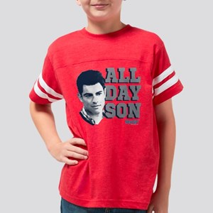 New Girl All Day Son Dark Youth Football Shirt