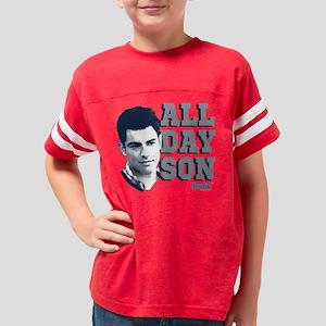 New Girl All Day Son Dark Youth Football Shirt