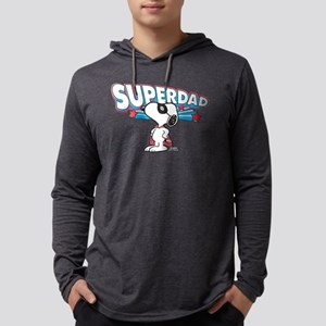 Peanuts Super Dad Mens Hooded Shirt
